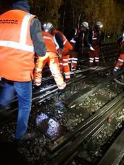 Cockfosters depot Broken Rail (02) (Funny Cyclist) Tags: london underground tube station rail train