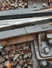 Cockfosters depot Broken Rail (01) (Funny Cyclist) Tags: london underground tube station rail train