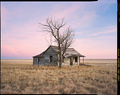Homestead Sunset (AlexBurke) Tags: colorado landscape 4x5 film prairie plains homestead sunset large format kodak portra rural