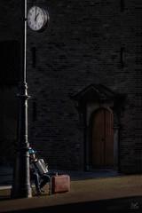 One 'o Clock (Bram de Jong) Tags: streetphotography arnhem beautifullight musicians suitcase fujifilmxt3