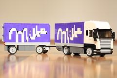 RC Lego Scania Milka Truck (Gabor_Horvath) Tags: lego milka truck scania rc minifigscaled remotecontrolled