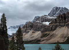 Snow is threatening (docoverachiever) Tags: banffnationalpark canadianrockies scenery nature alberta mountains landscape canada lake weather water clouds