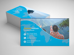 Travel-Business Card (fahadamin92) Tags: creative design travel travelbusinesscard modern personal style stylish team universe beauty bright card eco ecology environment grass landscape leaf leaflet meadow natural photo photograph professional sky vector businesscard change changeable multiplecolor multipurpose template wave clean cmyk cross editable simple layered ai psd