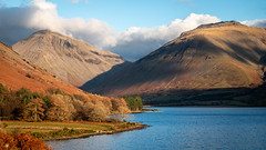 Mountains... (L.H.IMAGES) Tags: mountain mountains landscape landscapes landscapephotography orange colourful contrast outdoor light autumn cloud sky water lake lakedistrict wastwater uk beautiful travel destinations trees mirrorless lumixg9