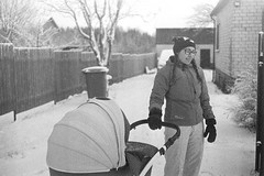 Shopping Cart (rATRIJS) Tags: canon50mmf18ltm 50mm ltm canon model7 canonmodel7 ilfordhp5plus ilfordhp5 hp5 hp5plus ilford expiredfilm l39 m39 rangefinder standdevelopment rodinal compardr09 analog 35mm bw blackandwhite winter latvia latvija cold snow