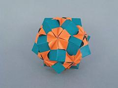Bright (masha_losk) Tags: kusudama кусудама origamiwork origamiart foliage origami paper paperfolding modularorigami unitorigami модульноеоригами оригами бумага folded symmetry design handmade art