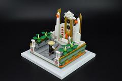 Sensei on Pilgrimage - The Sun Stone Temple (rsmbricks) Tags: lego ninjago legomoc afol afolclub temple sensei japan pilgrimage minifigures