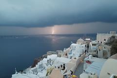 Instead of sunset... (faeriedragon19) Tags: greece oia santorini travel island aegean sea europe leica q2 cyclades thunderstorm lightning storm weather