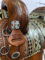 11246_7 (sportssaddlesalem) Tags: border tooled barrel racer crazy tool navajo southwestern corner cut antique brown choco chocolate buck buckstitching sewn thread 29 braided horn bh 10 fenders indian horse etched both back panels jwatt jwatts jeremiah watt watts black accent