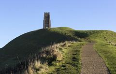 Glastonbury Tor, Somerset, UK (Ministry) Tags: glastonbury tor somerset levels uk stmichael tower hill steps grass path monochrome blackandwhite
