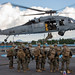 U.S. Marines conduct helicopter rappelling drills during exercise Fuji Viper 20-2