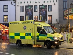 HSE / NAS Mercedes Sprinter Ambulance - Eyre Square, Galway - December 2019 (firehouse.ie) Tags: galway mercedes benz ambulance nas ambulances hse sprinter eyresquare ireland irish vehicles emergency nationalambulanceservice christmas december 2019 krankenwagen
