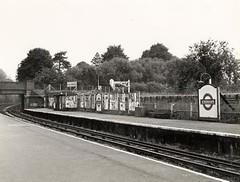 Ickenham Platforms 1958 (Funny Cyclist) Tags: ickenham station tube underground london rail train