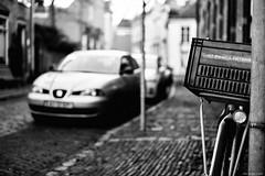 allowed?? (Strange Artifact) Tags: black blackandwhite white cycle bicycle zutphen captureonepro1214 transportation focus street