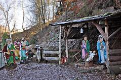 Weihnachtskrippe (Uli He - Fotofee) Tags: ulrike ulrikehe uli ulihe ulrikehergert hergert nikon nikond90 fotofee advent weihnachten frostig frost dezember 2019 steine