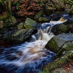 Padley Gorge #2 (gavsidey) Tags: derbyshire padley gorge water waterfall rocks stream burbage brook slow ngc d500