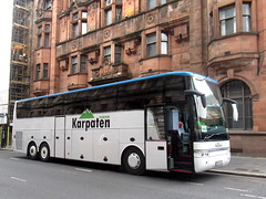 Karpaten Van Hool T916 Astron (miledorcha) Tags: karpaten turism bucharest romania romanian van hool astron t916 tri axle three glasgow scotland coach coaches bus foreign european visitor city travel holidays bn69yul