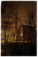 La filature (r0llsky) Tags: erstein alsace lafilature night nightphotography highiso gold brouillard brume fog