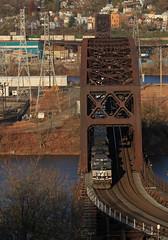 NS 9135 (GLC 392) Tags: ns 9135 9244 ge d940cw c409w norfolk southern oc bridge bridges train railroad railway contrainers ohio river brunot island sheraden pittsburgh pa pennsylvania mon line 20q