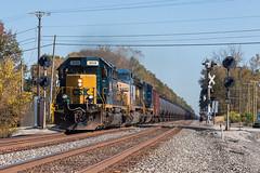 Columbia Station, Ohio (Wheeling West End) Tags: csx k163 conrail signals emd sd402 locomotive oil train 8039 csxt columbia station oh ohio
