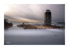 Silo (windshadow2) Tags: 6d canon rural snow winter farm silo country bucolic fading rustic landscape storm light