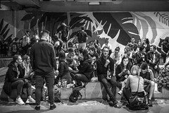 untitled (gregor.zukowski) Tags: warsaw warszawa street streetphoto streetphotography peopleinthecity candid blackandwhite blackandwhitestreetphotography bw urban fujifilm night nightlife
