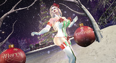 Where Are You Christmas? (Emerald.Dahlia) Tags: latex christmas tree yule yuletide bows gift winter decemeber sexy hugosdesign hugos snow shine gloss gloves stockings cold snowflake ethereal city