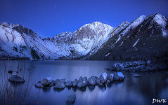 First Light (Don's PhotoStream) Tags: don'sphotostream ice stars easternsierra convictlake mountains snow firstlight 1635mm nikond750 morning cold