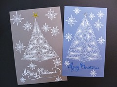 Xmas cards (Annie Lav) Tags: xmas christmas tree star illustration card zentangle