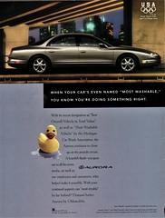 1996 Oldsmobile Aurora (aldenjewell) Tags: 1996 oldsmobile aurora ad