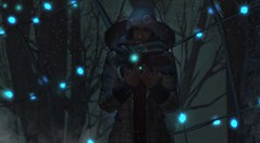Winter lights (drayton.miles) Tags: snow lights light dark darkness night time evening sl second secondlife winter cold cool hat beanie miles drayton glow snowing trees christmas xmas sparkle glitter coat jacket mesh pretty