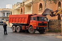 The Gentle Touch (ekawrecker) Tags: ribaltabile tipper benne kipper truck lorry camion malta maltese messina