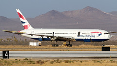 Victorville Scrapping. (spencer_wilmot) Tags: 767 b767 767300 boeing767300 763 b763 ba baw britishairways boeing widebody longhaul heavy twin pwfu wfu scrapped partingout southerncalifornialogistics vcv kvcv victorville brokenup plane passengerjet jet jetliner civilaviation commercialaviation ramp runway aviation aircraft airplane airliner airport apron taxiway california