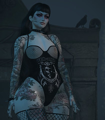 Watcher of the Night (Diavkha) Tags: femboy femboi boy male man crossdressing androgynous gay genderbender flatchest drag goth gothic dark secondlife second life avatar fashion photography effeminate feminine ink cute sexy naughty kinky