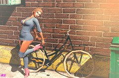 Am I Going To Ride My Bike With Heels? (alexandra sunny) Tags: safira mosquito´sway jessposes thebeardedguy belleevent posefair mancave catwa maitreya aviglam sintiklia blog blogger fashion female woman backdrops pose