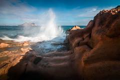 Cabo Cope desde Playa Amarilla, Aguilas. (Miguel Mora Hdez.) Tags: roja aguilas playa amarilla playaamarilla olas waves rocks sea seascape