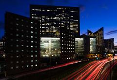 La Defense by night (LouMaxx) Tags: paris nuit pose longue long exposure light modern architecture building defense