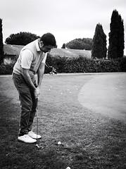 6856 - Putt (Diego Rosato) Tags: putt green verde golf club roma rome parco medici bianconero blackwhite fuji x30 rawtherapee