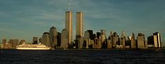 WTC 265 (1993) (stevensiegel260) Tags: worldtradecenter twintowers newyorkskyline manhattanskyline cruiseship ship 1990s