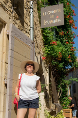 IMG_0137.jpg (Bri74) Tags: france hat people woman sign provence lourmarin