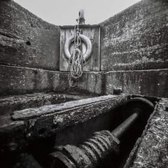 Craster Harbour (John Ash Photography) Tags: pinhole square black whiteblack white film ilford pan f panf zeroimage