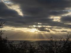 autumn sunrise (inma F) Tags: amanecer isla island cloud sky cielo otoño playa beach nube sunrise dawn costa shore rayo shine ray sea ocean oceano mar autumn luz light tormenta storn tenerife canaryisland islas canarias