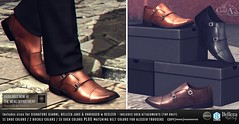 NEW! MONK BUCKLE SHOES @ TMD (coldashsl) Tags: sl menswear mens mesh clothing fashion male shop coldash cold ash tmd department signature gianni fittedmesh fitmesh belleza jake footwear shoes formal dress shoe