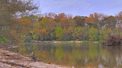 Autumn in Kingwood, Texas (Bob B1981) Tags: kingwoodtexas kingwood eastendpark hdr autumn fall lake lakehouston trees landscape reflection