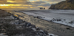 Black Beach 3 (Ricks Picks) Tags: iceland nature natural landscape water mountain island sunset rocks beach black ice snow travel winter