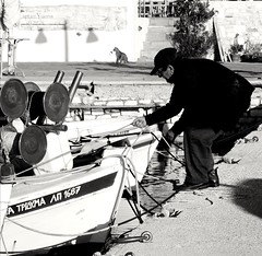"""""""Respect your elders, learn from the people who have walked the path before you..."""" (fl_mala) Tags: oldman fisherman boats lifeisbetterontheisland paros cyclades greece greecelovers discovergreece traveltogreece port greekislands collectmoments moments wonderfulworld blackandwhite"""