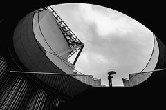 F_MG_8329-1-BW-Canon 6DII-Canon 16-35mm-May Lee 廖藹淳 (May-margy) Tags: maymargy 人像 背影 剪影 逆光 紅色 雨傘 階梯 現代建築 天井 圓形 欄柱 幾何構圖 點人 街拍 線條造型與光影 天馬行空鏡頭的異想世界 心象意象與影像 台灣攝影師 台南市 台灣 中華民國 portrait viewfromback silhouette backlighting red umbrella stairs modernarchitecture humaningeometry humanelement streetviewphotography linesformsandlightandshadow mylensandmyimagination naturalcoincidencethrumylens taiwanphotographer tainancity taiwan repofchina fmg83291 canon6dii canon1635mm maylee廖藹淳 bw 黑白