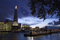 Nightfall over Southwark (marc.barrot) Tags: x100f nightphotography cityscape skyline uk ec3n london riverthames southwark theshard towermilleniumpier