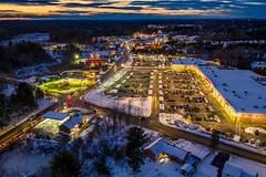 December Evening (Seth J Dewey Photo) Tags: december massachusetts mavic2pro sethjdeweyphotography tewksbury aerial drone evening snow twilight winter
