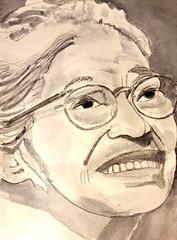 Rosa Parks (Utopist) Tags: watercolour watercolor women rosa parks portrait